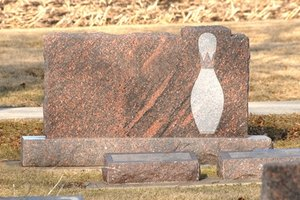 Elaborate grave markers can be expensive.