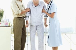 Elderly falls can result in hip damage.