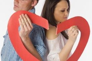Couples must get accustomed to a new life after they end a long-term relationship.