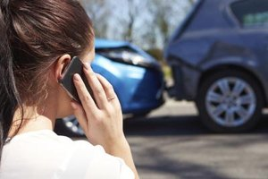 Move a safe distance from the accident before calling your parents.