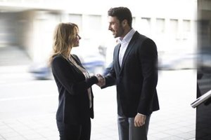 Head high, shoulders back and a firm handshake -- your body language helps to convey your self-assurance.
