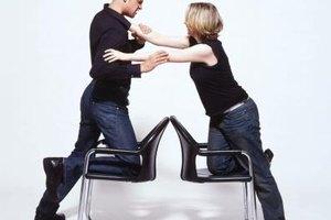 Couple fighting.