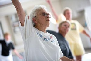 Senior citizens can break the ice with fun activities that force them to communicate with others.