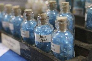 Comparison of Blue Zircon and Blue Topaz