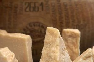 Pungent Parmesan cheese goes with many wines.