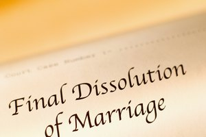 Close-up of final dissolution of marriage document
