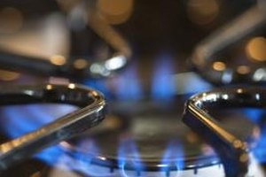 Gas stoves or ranges cook food with a blue flame.