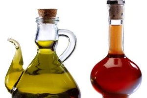Traditional Italian salad dressing is sometimes made with just olive oil and red wine vinegar.