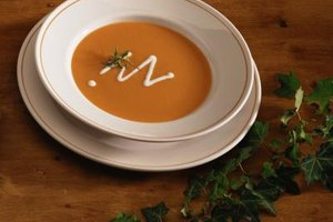 Adding liquor can enhance the flavor of carrot and ginger soup.