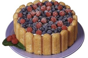 A random mix of berries works as well as more formal designs.