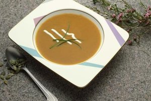 Pair butternut squash soup with foods that accentuate its sweet flavor and creamy texture.