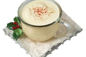 Slip a shot of something special in your eggnog to help celebrate the holidays.