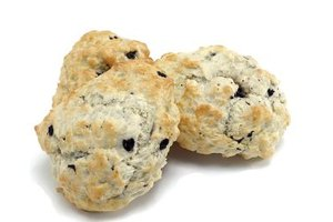 Scones are essentially biscuits with dried fruit or flavorings.