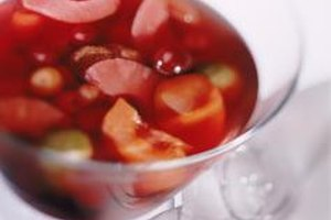 Fruits or other juices cut the acidity of the cranberry in punch.
