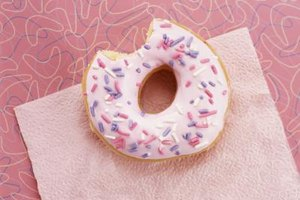 A doughnut's glaze sometimes contains gelatin.