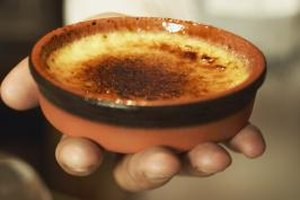 The classic dessert creme brulee is a type of custard.