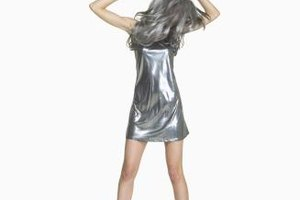 A silver dress is so stylish alone that it can be difficult to accessorize.