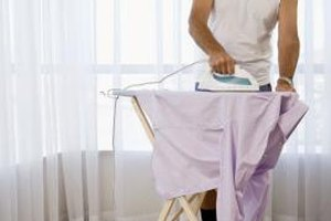 Ironing is one of several ways to remove wrinkles from shirts.