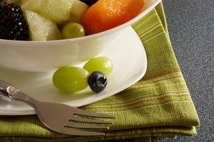 Nutrición de ensalada de frutas frescas