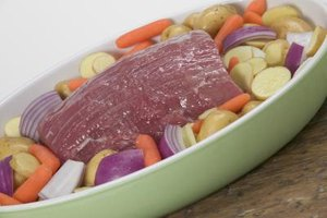 Add veggies to your roast for convenient cooking all in one pan.