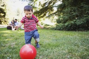 An inexpensive ball can keep him busy and happy for a long time.