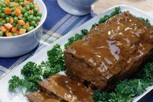 Shredded vegetables make a lighter meatloaf with more fiber.