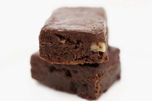 Chewy brownies have enough structure to support heavy additions such as nuts.