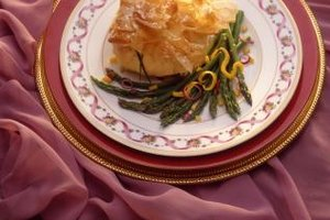 Phyllo dough produces a light and flaky pastry.