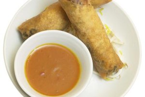 Duck sauce goes well with eggrolls and other fried food.