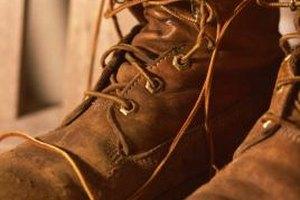 Take short walks to soften stiff work boots.