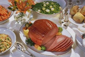 A boiled ham dinner is a traditional New England dish.