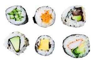 Bento boxes often contain sushi.
