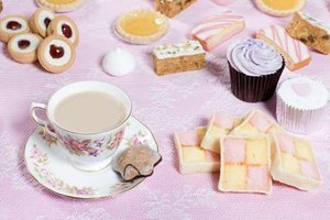 A variety of sweet treats can be served with a traditional British tea.