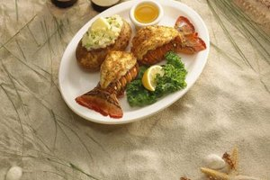 Butterflied lobster tails are an impressive way to serve lobster tails.