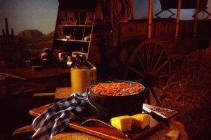 Generous portions of food from the campfire started the day on cattle drives.