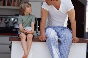 A father figure can help a boy develop positive character traits such as honesty.