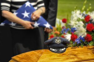 How to Display a Flag Over a Casket