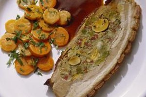 Glazed carrots are often served alongside roast pork.