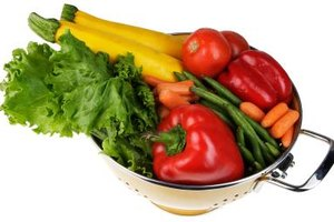 To cut calories, eat more fresh vegetables, preferably steamed instead of fried.