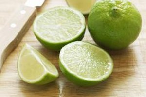 Lime peels yield more flavor than freshly squeezed juice.