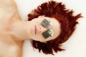 Soothe tired and puffy eyes with two damp tea bags.