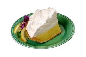 Whipped egg whites top lemon meringue pie.