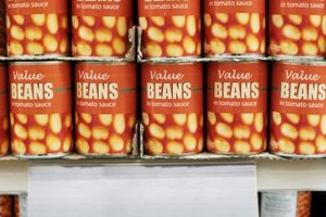 Canned beans are a staple of emergency supply kits.