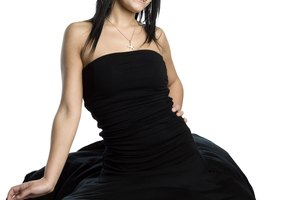 How to Glamorize a Plain Black Dress
