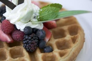 Whipped butter melts quickly on hot foods such as waffles.
