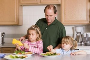 Involving preschoolers in lunch preparation will make them want to eat the food they helped make.