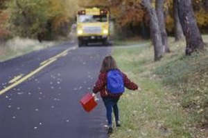 A quick breakfast protein shake gets your well-nourished child to the school bus on time.