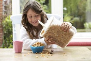 Low-fat cereals are quick, easy breakfast options.