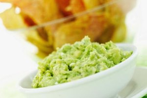 Guacamole and corn chips is an easy, gluten-free appetizer