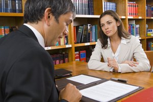 Woman with lawyer
